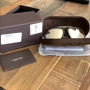 Tom Ford mirrored aviators